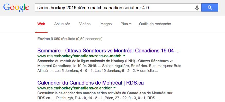canadiens de montréal calendrier