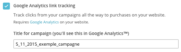 Google analytic - mailchimp